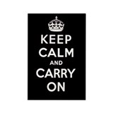 KEEP CALM AND CARRY ON Rectangle Magnet (10 pack)
