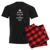 KEEP CALM AND CARRY ON pajamas