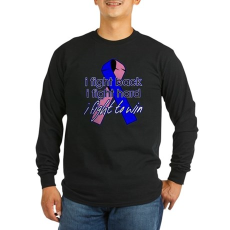 Male Breast Cancer IFightBack Long Sleeve Dark T-S