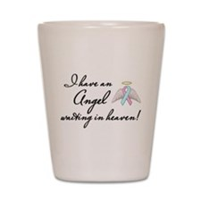Angel Waiting Shot Glass