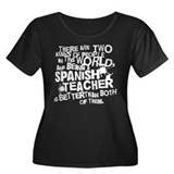 Spanish Teacher (Funny) Gift Women's Plus Size Sco