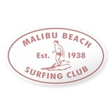 Malibu Beach Surfing Club Decal