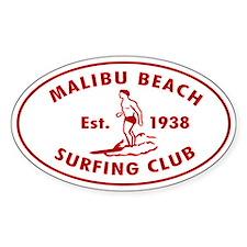 Malibu Beach Surfing Club Decal