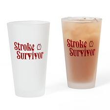 Stroke Survivor Drinking Glass