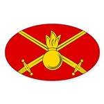Russian Ground Forces Banner Sticker (Oval 10 pk)