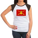 Russian Ground Forces Banner Women's Cap Sleeve T-