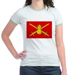 Russian Ground Forces Banner Jr. Ringer T-Shirt