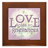 ACIM-Love Holds No Grievances Framed Tile