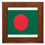 Unique Bangladesh Framed Tile