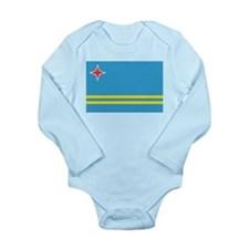 Unique Flag of aruba Long Sleeve Infant Bodysuit