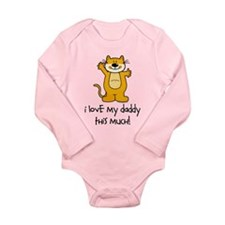 I Love My Daddy This Much Long Sleeve Infant Bodys
