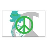 OYOOS Peace design Sticker (Rectangle 50 pk)