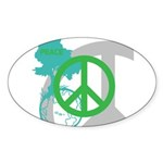 OYOOS Peace design Sticker (Oval 50 pk)