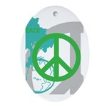 OYOOS Peace design Ornament (Oval)
