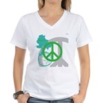 OYOOS Peace design Women's V-Neck T-Shirt