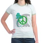 OYOOS Peace design Jr. Ringer T-Shirt