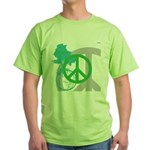 OYOOS Peace design Green T-Shirt