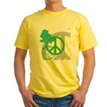 OYOOS Peace design Yellow T-Shirt