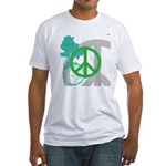 OYOOS Peace design Fitted T-Shirt