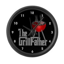 Grill Father Large Wall Clock
