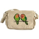 Peach-Faced Lovebirds Messenger Bag