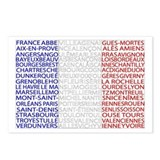 French Cities Flag Postcards (Package of 8)