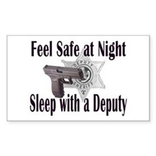 Feel Safe Rectangle Decal