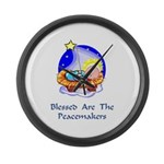 Peacemakers W/Child Gifts Large Wall Clock