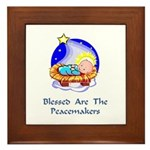 Peacemakers W/Child Gifts Framed Tile