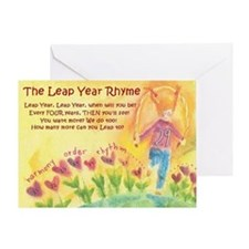 Leap Year Rhyme Greeting Card