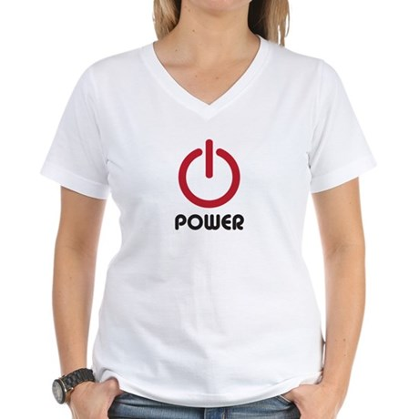 Power Women's V-Neck T-Shirt