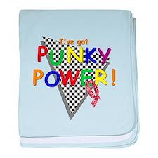 Punky Power! Retro 80's TV baby blanket