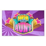Pink Super Aunt Bumper Stickers