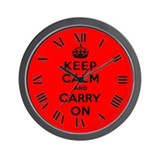 Keep calm and carry on Basic Clocks