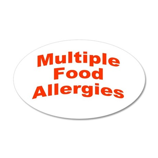 Multiple Food Allergies 38.5 x 24.5 Oval Wall Peel