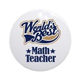Math Teacher Gift Ornament (Round)
