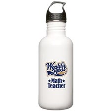 Math Teacher Gift Sports Water Bottle