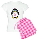 Pink Ribbon Penguin Awareness Pajamas