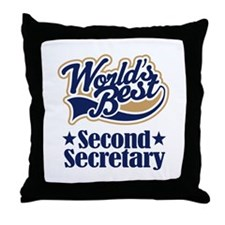 Secondary Secretary Gift Throw Pillow