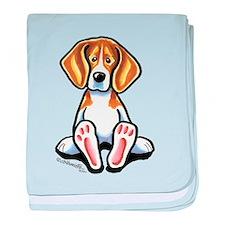 Funny Beagle baby blanket