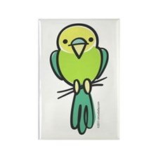 Yellow/Green Parakeet Rectangle Magnet (10 pack)
