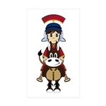 Cute Roman Soldier Sticker (50 Pk)