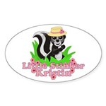 Little Stinker Kristin Sticker (Oval 10 pk)