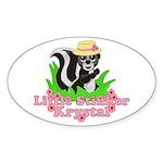 Little Stinker Krystal Sticker (Oval)