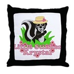 Little Stinker Krystal Throw Pillow