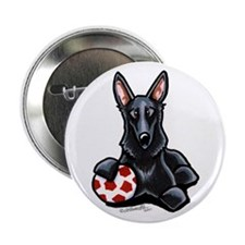 "Black GSD Soccer Pro 2.25"" Button (100 pack)"