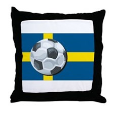 Swedish Soccer Throw Pillow