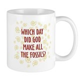 Which Day Did God Make Fossils? Small Mugs
