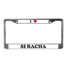 I Love Si Racha License Plate Frame