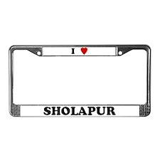I Love Sholapur License Plate Frame